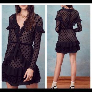Nwt For Love & Lemons Dotty mini dress